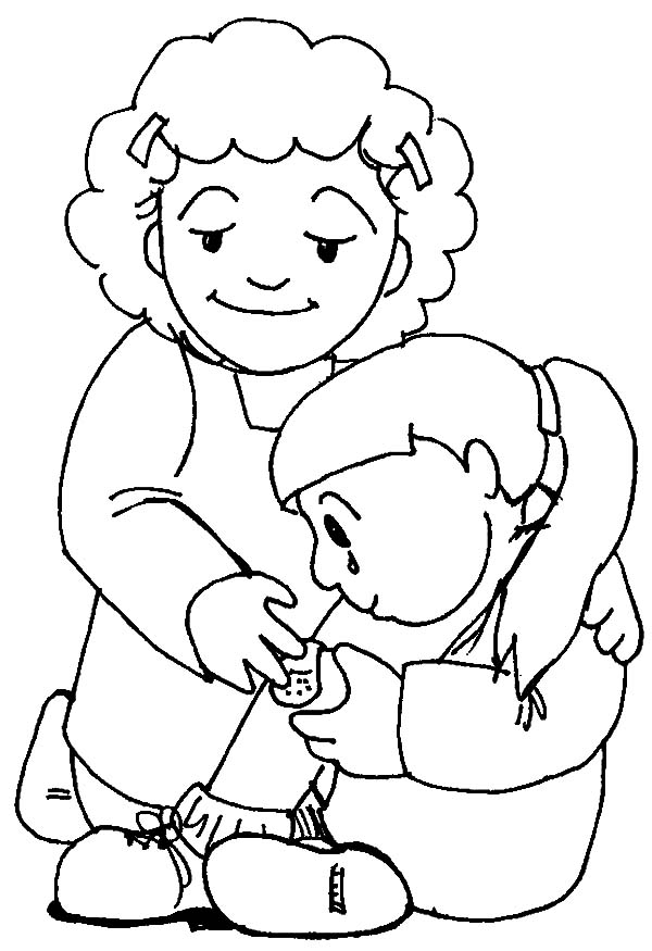 taking care flower coloring pages - photo#1