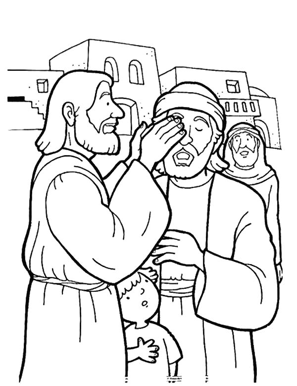 Kindness, : Kindness is Jesus Healing People Coloring Pages