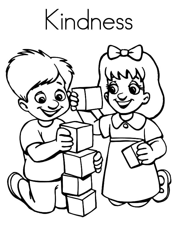School Online Coloring Pages Kids Playing