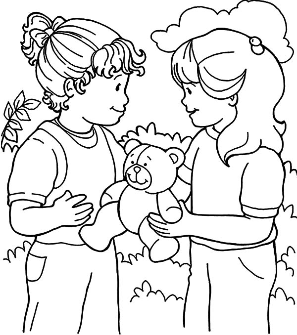 Coloring Pages Showing Sharing - Coloring Pages For Kids and Printable
