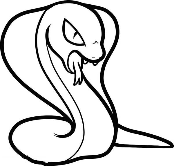 King Cobra, : King Cobra Threatening His Enemy Coloring Pages