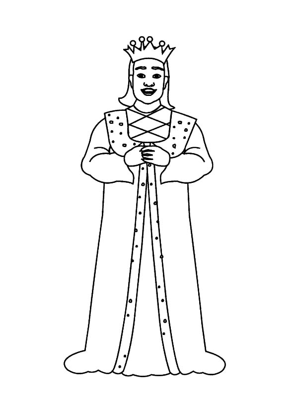 King, : King Giving Speech Coloring Pages