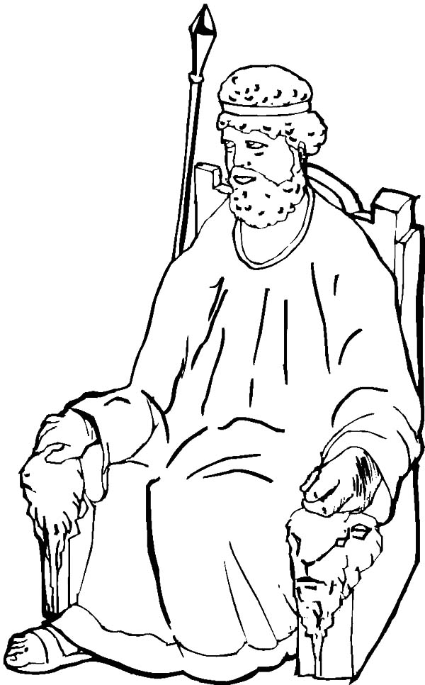 King, : King Samuel Coloring Pages