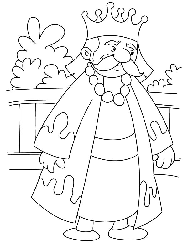 King, : King is in Mourning Coloring Pages