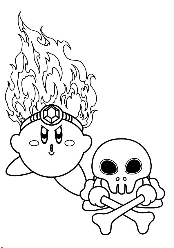 Kirby, : Kirby Death Fire Coloring Pages
