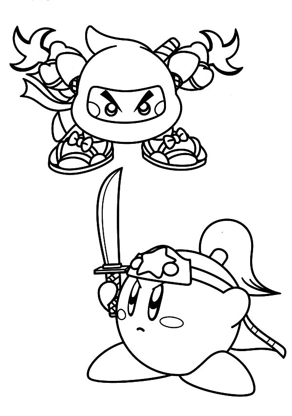 Printable kirby coloring pages for kids cool2bkids - Sword Kirby Coloring Pages Printable Kirby Coloring Pages