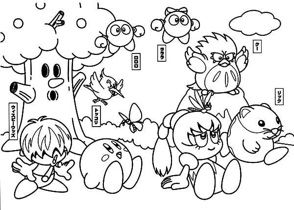 Kirby, : Kirby and Friends Coloring Pages