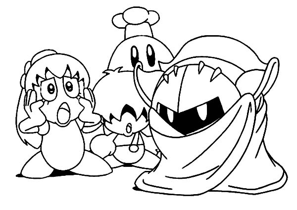 Kirby, : Kirby in Action Coloring Pages