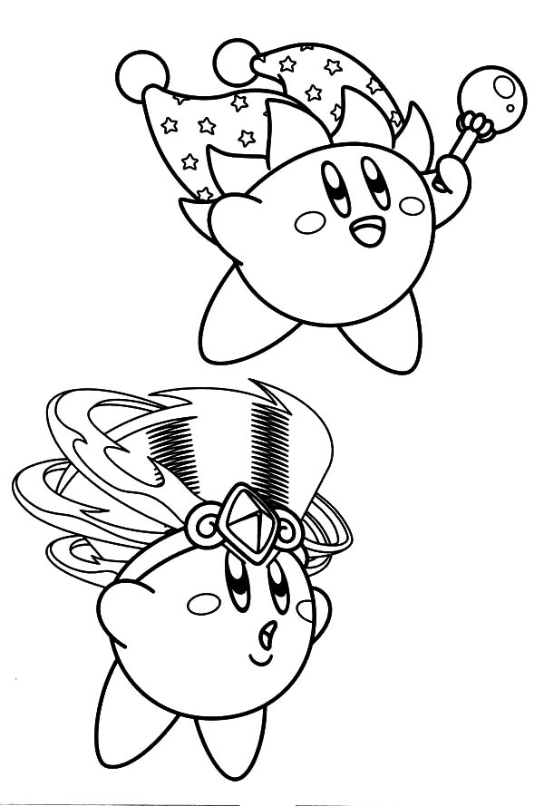 Kirby, : Kirby the Magician Coloring Pages