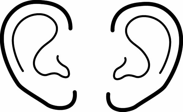 Ear, : Listening Music with Ear Coloring Pages
