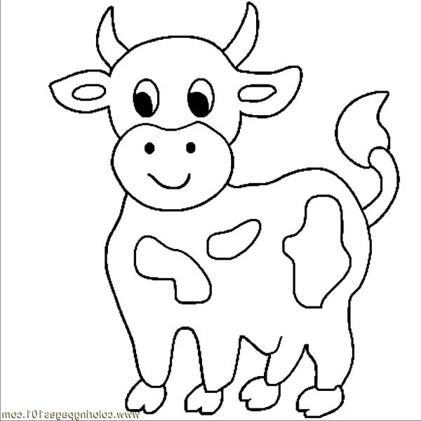 Cows, : Little Cows Coloring Pages