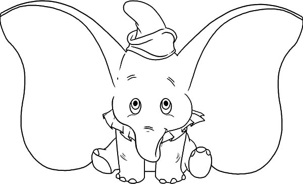 Ear, : Little Dumbo Big Ear Coloring Pages