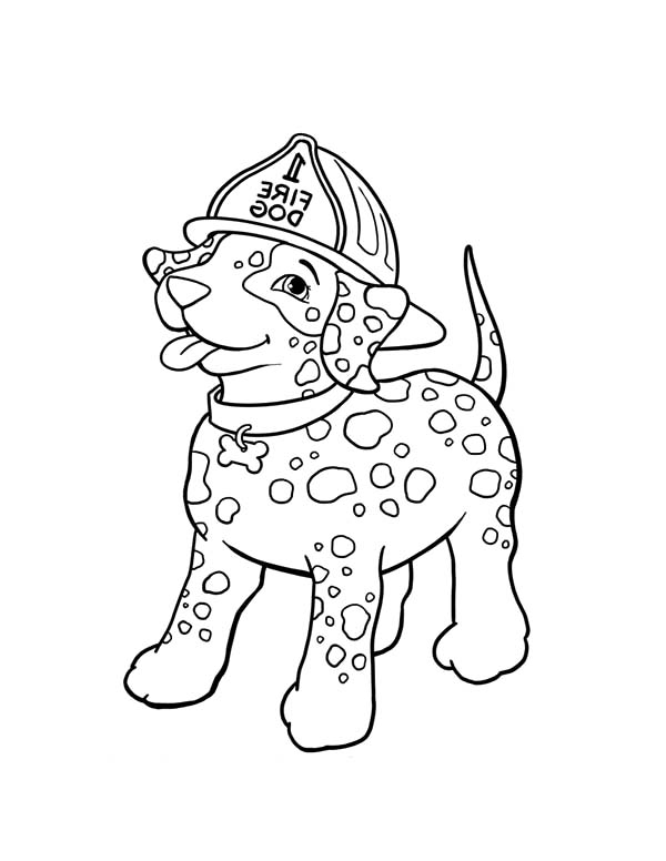 Fire Dog, : Little Fire Dog Coloring Pages