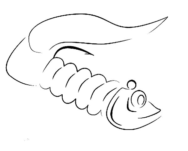 Fishing Lures, : Little Fish Fishing Lure Coloring Pages