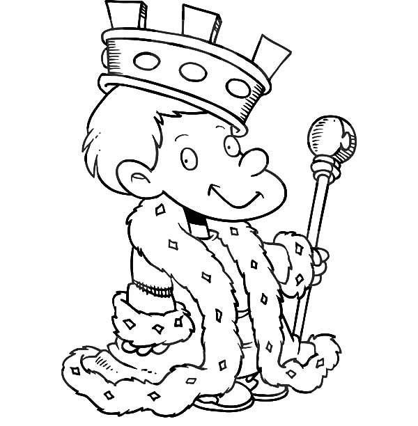 King, : Little King Coloring Pages