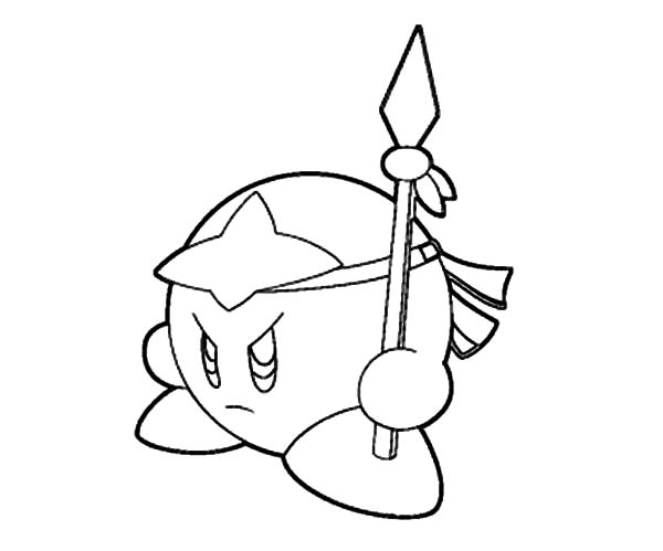 Kirby, : Mad Kirby Coloring Pages