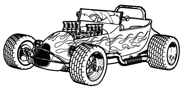 Hot Rod Cars, : Modified Hot Rod Cars Coloring Pages