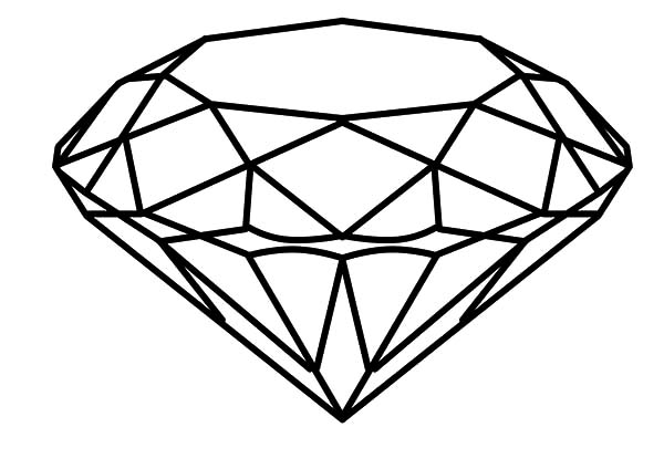 Diamond Shape, : Most Popular Diamond Shape Coloring Pages