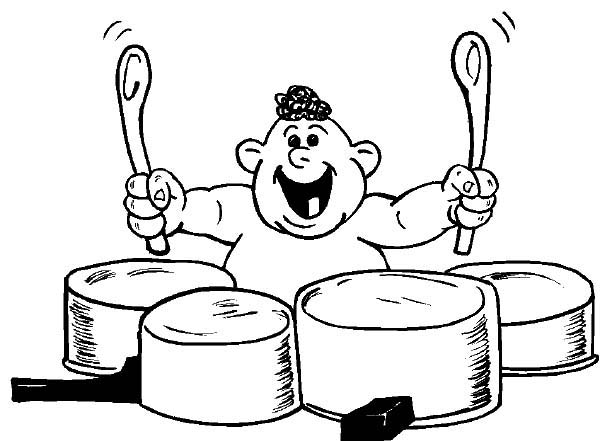 Drummer Boy, : One Teeth Baby Drummer Boy Coloring Pages
