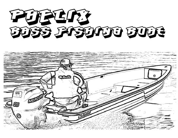 Fishing Boat, : Phelix Bass Fishing Boat Coloring Pages