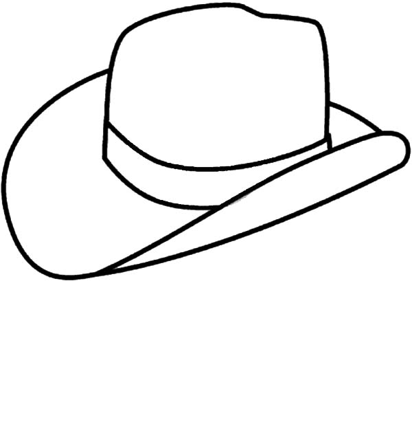 Cowboy Hat, : Picture of Cowboy Hat Coloring Pages