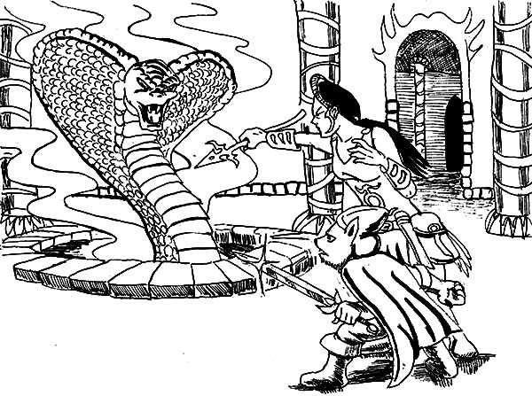 king cobra princess and king cobra coloring pages