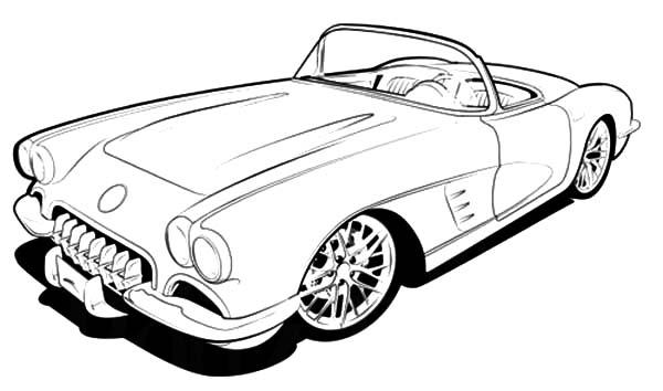 Corvette Cars, : RC 1960 Corvette Cars Coloring Pages