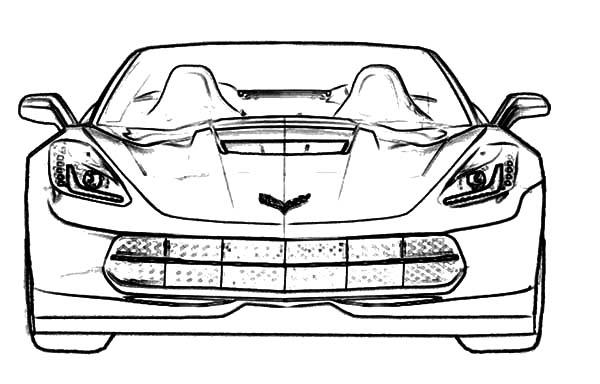 Corvette Cars, : Racing Cars Stingray Corvette Coloring Pages