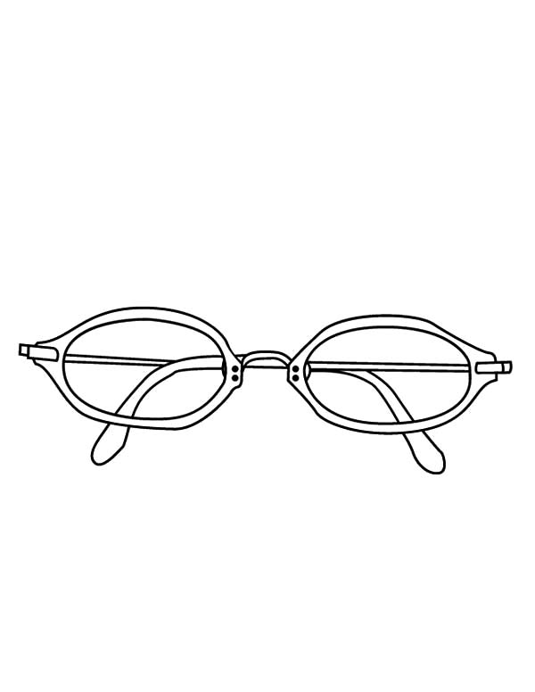Eyeglasses, : Reading Eyeglasses Coloring Pages