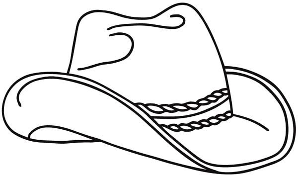 Cowboy Hat, : Realistic Cowboy Hat Picture Coloring Pages