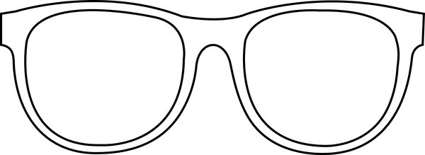 Eyeglasses, : Retro Eyeglasses Coloring Pages