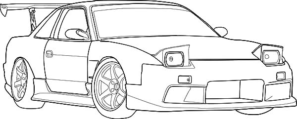 Drifting Cars, : S13 Drifting Cars Coloring Pages