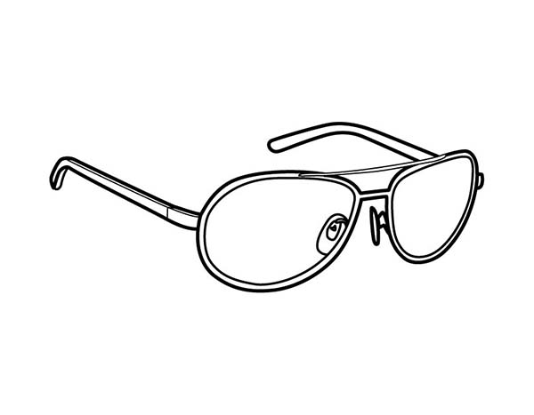 Eyeglasses, : Safety Eyeglasses Coloring Pages