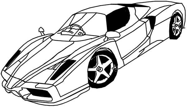 Ferrari Cars, : Scuderia Ferrari Cars Coloring Pages