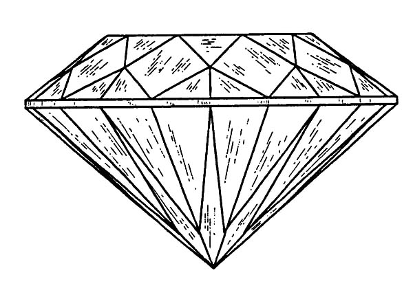 Diamond Shape, : Sketch of Diamond Shape Coloring Pages