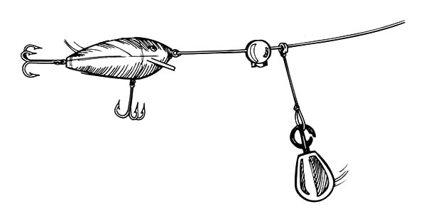 Fishing Lures, : Snap Loc River Fishing Lure Coloring Pages