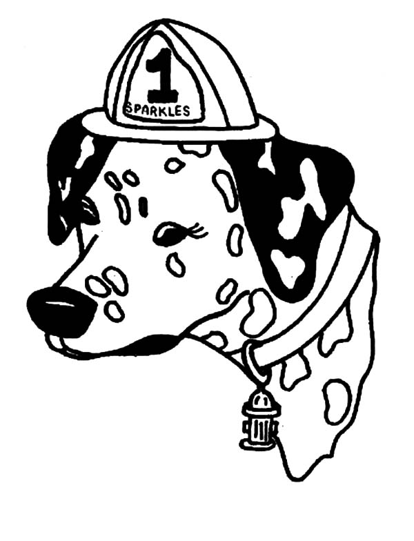 sparky the fire dog coloring pages  Coloring Pages For Kids and