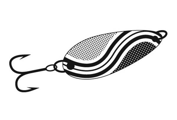 Fishing Lures, : Spinner Bait Fishing Lures Coloring Pages