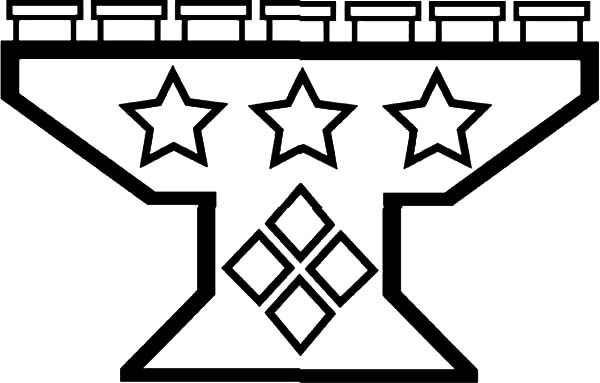 Kinara, : Star Decorated Kinara Coloring Pages