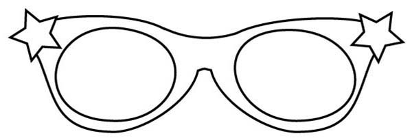 Eyeglasses, : Starry Eyeglasses Coloring Pages