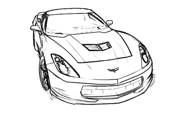 stingray c7 corvette cars coloring pages - Corvette Coloring Pages Printable