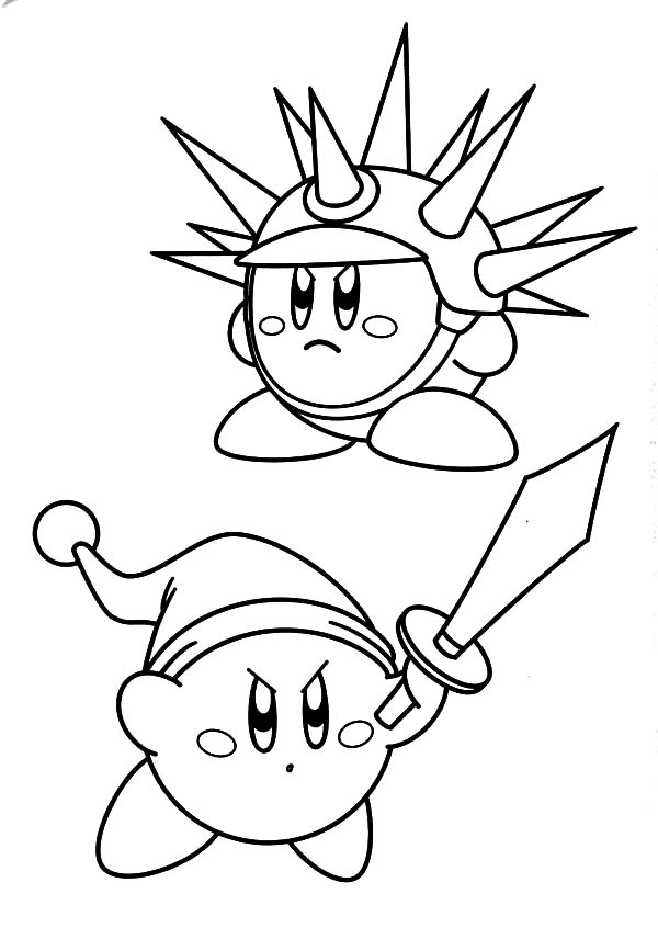 Kirby, : Super Smash Bros Kirby Coloring Pages