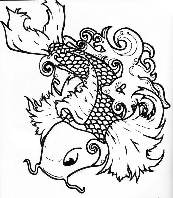 Coy Fish, : Supreme Coy Fish Coloring Pages