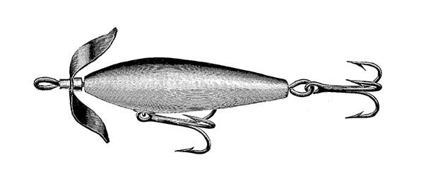 Fishing Lures, : Surface Fishing Lures Coloring Pages