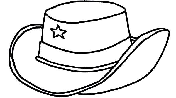 Cowboy Hat, : Texas Cowboy Hat Coloring Pages