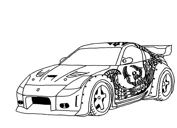 Drifting Cars, : Tokyo Drift DK S 350 Drifting Cars Coloring Pages