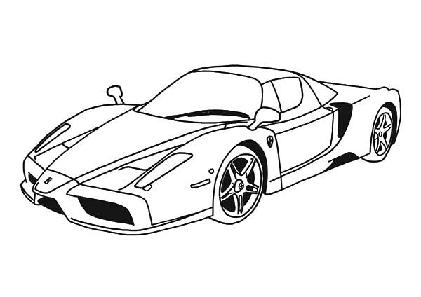 Ferrari Cars, : Top Speed Cars Enzo Ferrari Coloring Pages