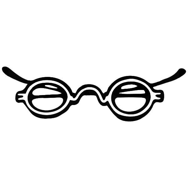 Eyeglasses, : Vintage Eyeglasses Coloring Pages