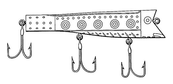 Fishing Lures Sketch Coloring Pages Fishing Lures Sketch Coloring