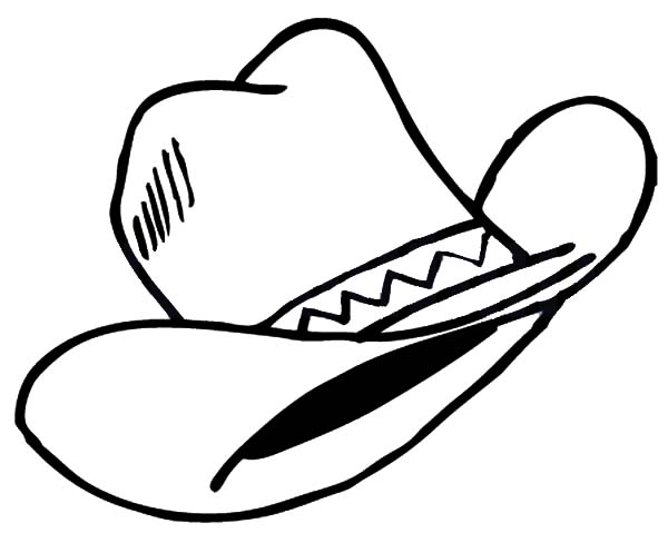 Cowboy Hat, : Wild Wild West Cowboy Hat Coloring Pages